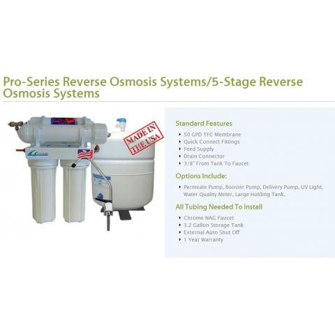 Five Stage Reverse Osmosis Drinking Water System