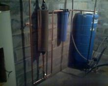 image: Iron Filter Installed along with our Sterling Water Conditioner